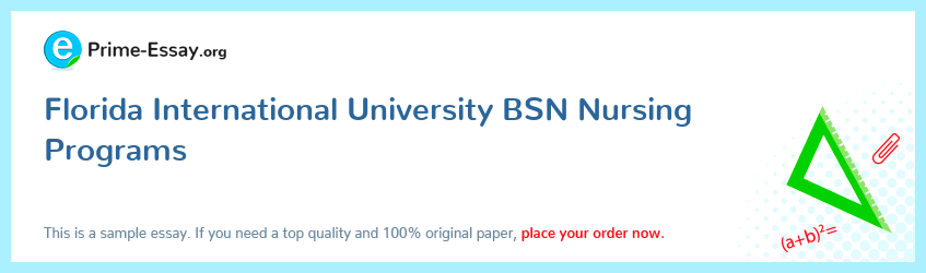 Florida International University BSN Nursing Programs