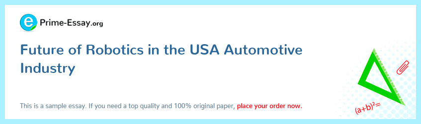 Future of Robotics in the USA Automotive Industry