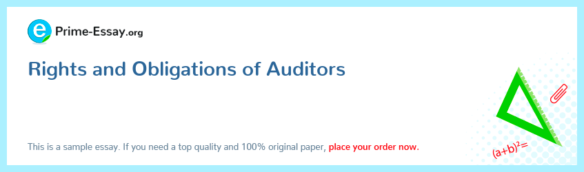 Rights and Obligations of Auditors
