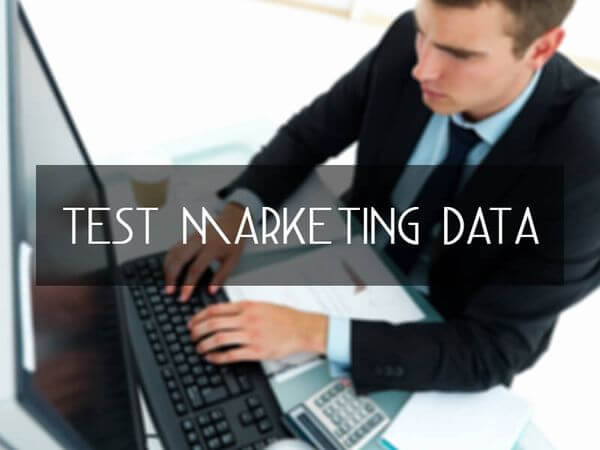 Test Marketing Data